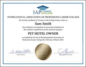 CERTIFICATE-pet-hotel-owner