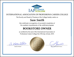 certificate-bookstore-owner