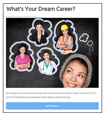 What's Your Dream Career?