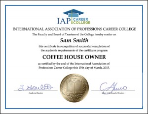 CERTIFICATE-coffeehouse-owner