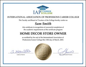 CERTIFICATE-home-decor-store