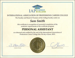 Get A Personal Assistant Certificate And Earn More  Celebrity Personal Assistant Resume